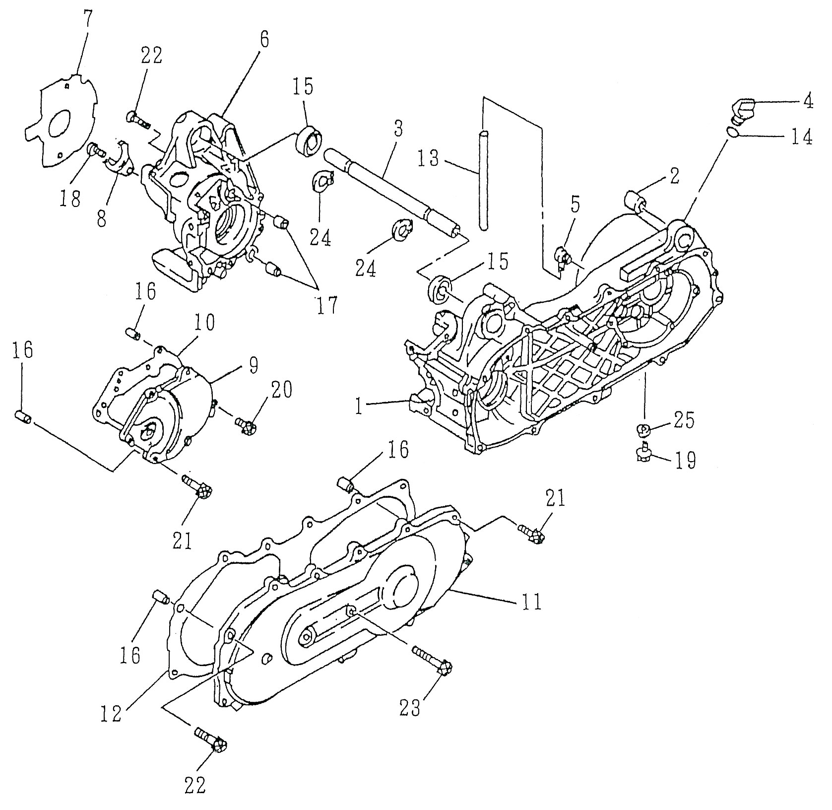 schema moteur quad