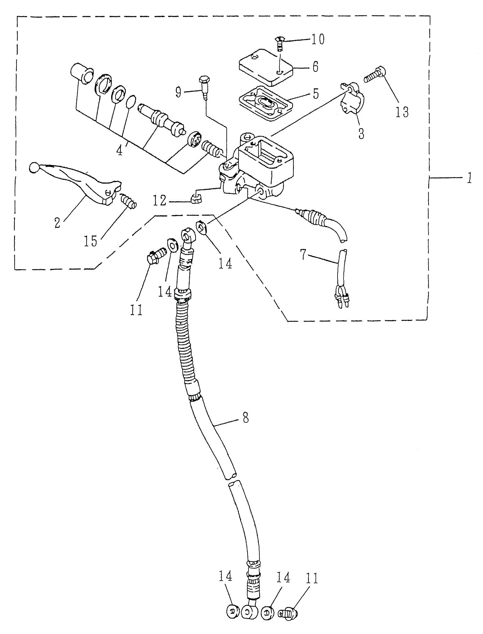 pieces detachees maitre cylindre frein avant scooter minico smc rs 50 2 temps. Black Bedroom Furniture Sets. Home Design Ideas